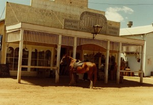 A General Store used in the 1915 Movie.  The sign says - Cut Price Store, Drapery and Clothing along with Fancy Goods.  (This building is currently owned by Delta Agribusiness)